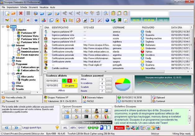 Sicurpas Freeware professional Screenshot